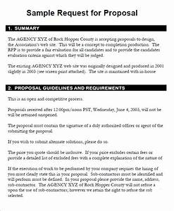 sample rfp proposal template With request for bids template