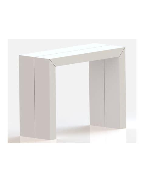 Table Console Extensible Moderne en laque mate ou