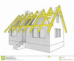 Diagram Icon Building Roof Of House Stock Illustration