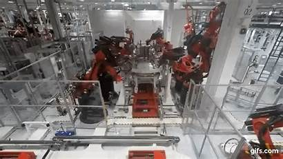 Manufacturing Tesla Plant Inside Gifs Shares Points