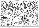Graffiti Coloring Pages Teens Adults sketch template