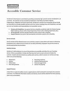 delighted customer service policy template contemporary With aoda policy template