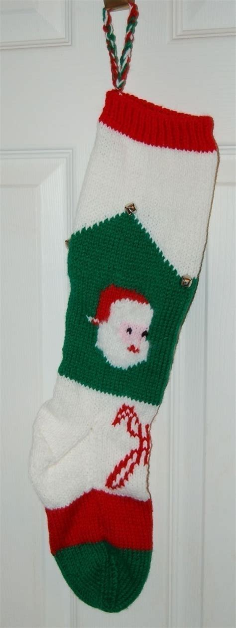 christmas stocking knit from vintage pattern knitting