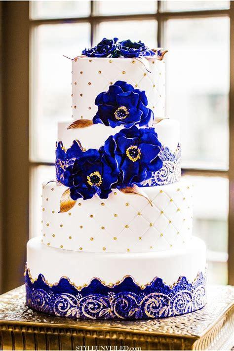 royal blue  gold wedding cake big sissys purple