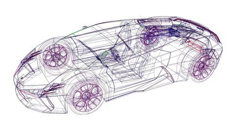 Lamborghini Indomable Cad Wireframe