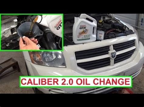 dodge caliber oil change  engine   change  oil