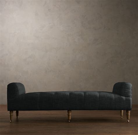 Restoration Hardware Settee by Camille Tufted Settee Ottomans Benches Restoration