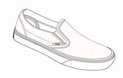 Coloring Pages Shoes Van Vans Template Shoe
