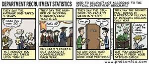 PHD Comics Department Recruitment Statistics