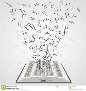 book with flying letters stock vector image 57862878 With letter art book