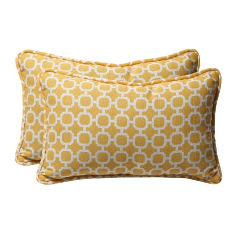 Decorative Toss Pillows by Pillow Decorative Yellow White Geometric Rectangle