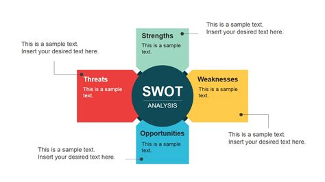 flat swot diagram design  powerpoint slidemodel