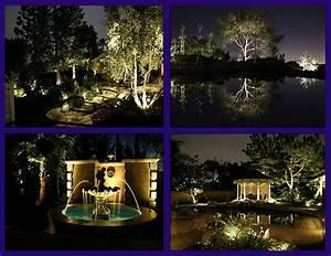 Outdoor garden electric lights design installation in