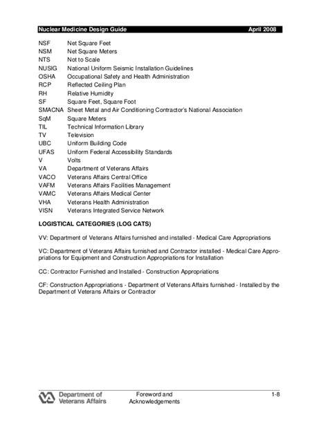 PRIL 2008 VA Design Guide NUCLEAR MEDICINE