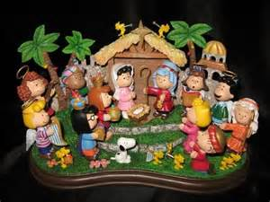 danbury mint peanuts nativity charlie brown snoopy friends collectible ebay christmas