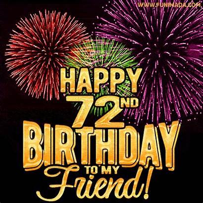 Birthday 19th 72nd 13th Happy 73rd Fireworks