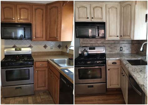 Rustoleum Kitchen Transformations Before And After by Best 25 Cabinet Transformations Ideas On