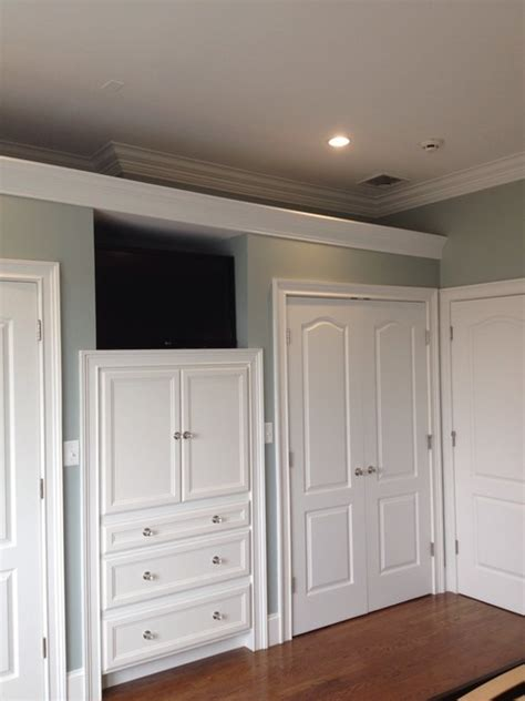 built in cabinets in master bedroom traditional closet