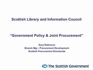 Government Policy & Joint Procurement