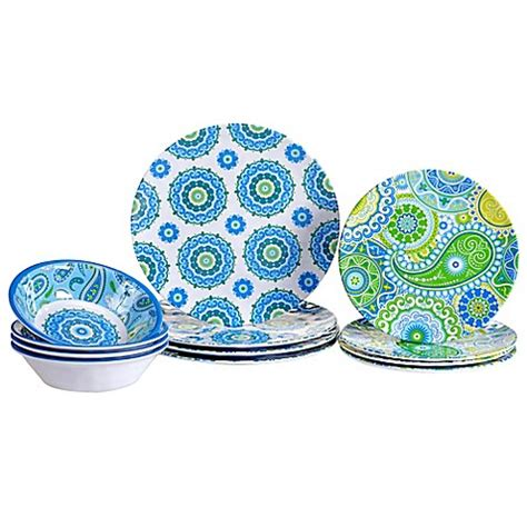 certified international boho dinnerware collection bed