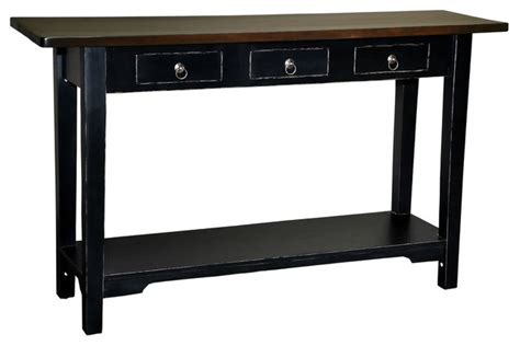 distressed black console table sedona console table distressed black rustic console