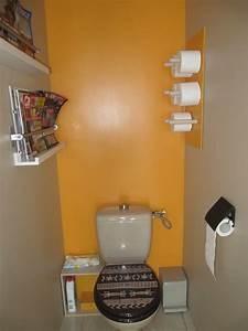 Deco Pour Wc : peinture wc original avec sch n idee couleur wc decoration toilette deco toilettes zen idees et ~ Teatrodelosmanantiales.com Idées de Décoration
