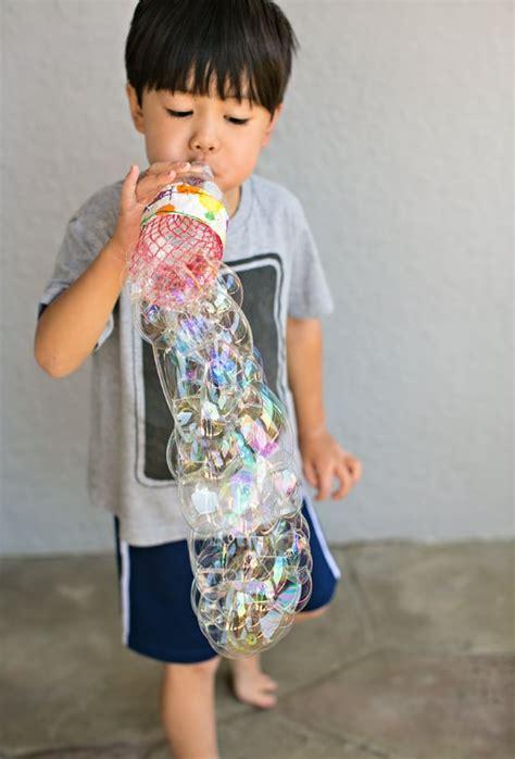 wonderful diy recycled bottle bubble blower