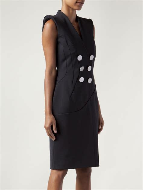 altuzarra double breasted button dress  black lyst