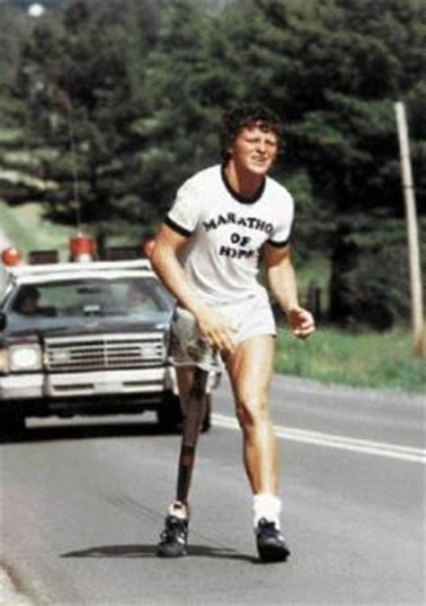 terry fox captures  nations attention  courage
