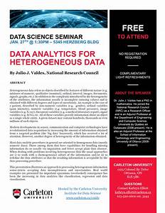 """Data Analytics for Heterogeneous Data"" with Julio Valdes ..."