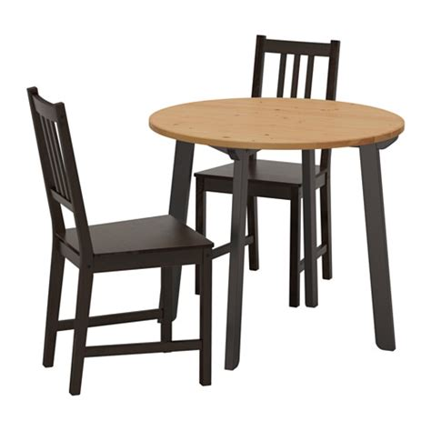 set table et chaises stefan gamlared table and 2 chairs light antique stain