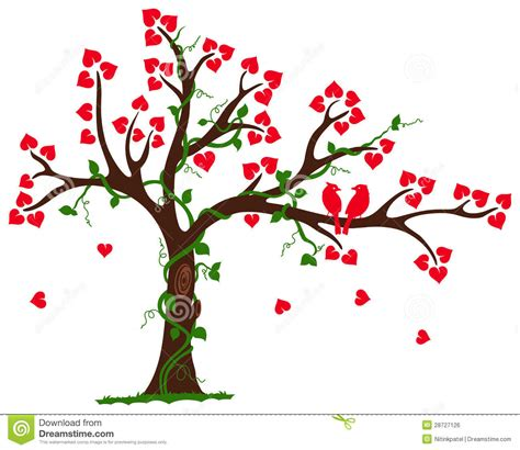 wedding tree tree with heart liana and vine royalty free stock