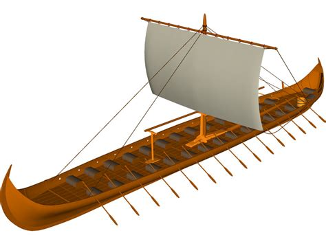 Viking Longboat Model by Viking Longboat 3d Model 3d Cad Browser