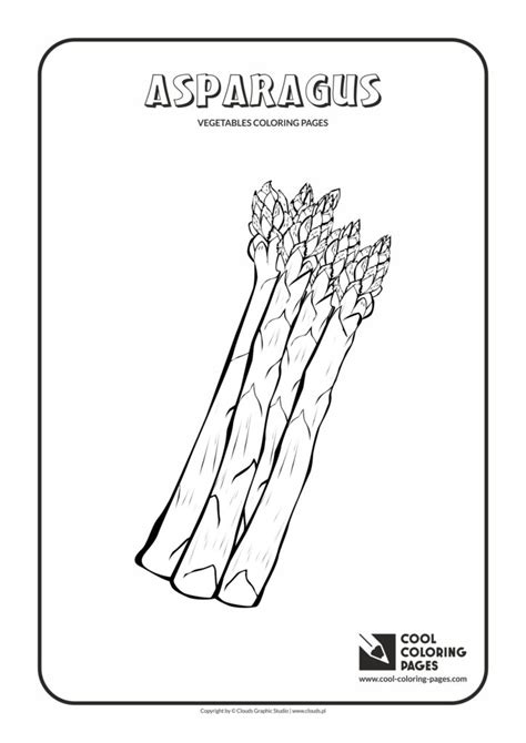cool coloring pages asparagus coloring page cool