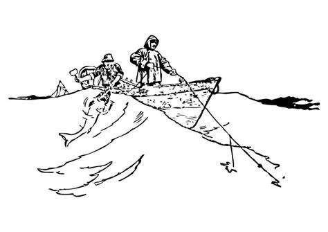 disegno da colorare pescatori cat