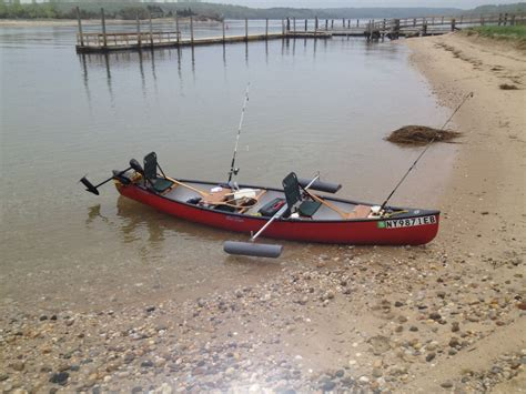 Canoes With Electric Motors my canoe has outriggers and electric motor saltwater