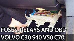 Where To Find Fuses  Relays And Obd Port In  Volvo C30 S40