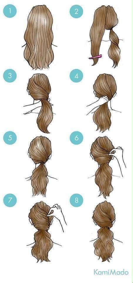 simple  easy ways  tie   hair