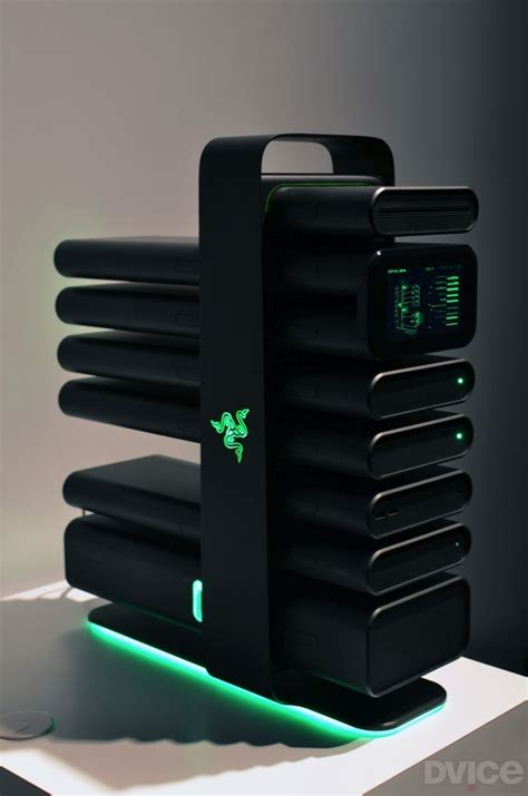 Razer Reveals Futuristic Modular Gaming Pc Sleek Nabu
