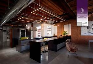 Stylish Dark Kitchen Design With Industrial Touches - DigsDigs
