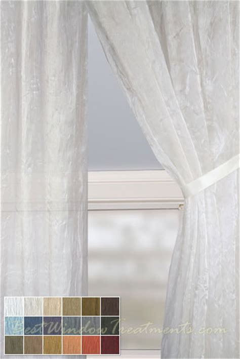 mirror sheer curtain panel    colors
