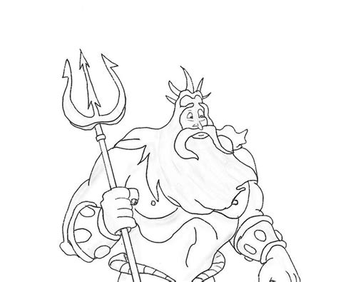king triton coloring page coloring home