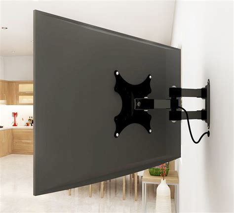 tv on wall mount adjustable tv wall mount arm for a tiny house