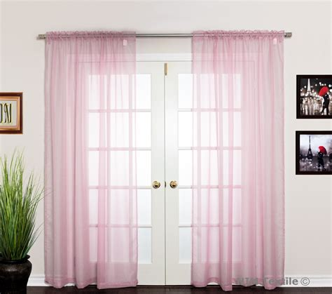 pale pink curtains light pink sheer voile curtains
