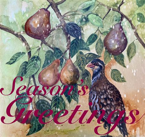 Find the perfect partridge pear tree stock illustrations from getty images. Partridge in a Pear Tree Greetings Card - DesignMatters TV