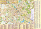 Large detailed road and tourist map of Minsk city in ...
