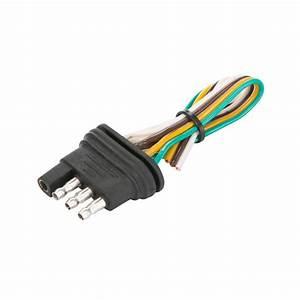 4 Way Flat 12 U2033 Trailer End Plug Connector