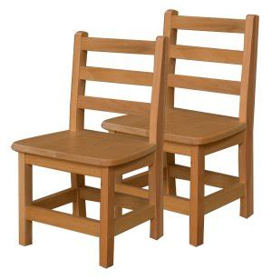 ladder back wooden preschool chair set of 2 12 quot h seat 512 | WDE 81202T