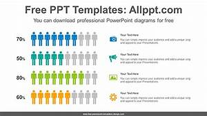 Men Icon Chart Powerpoint Diagram Template