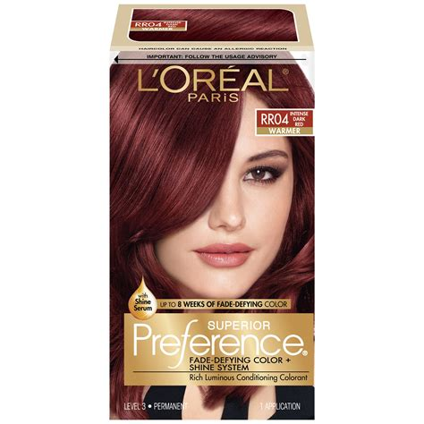 loreal preference hair color chart l or 233 al feria permanent hair color r48
